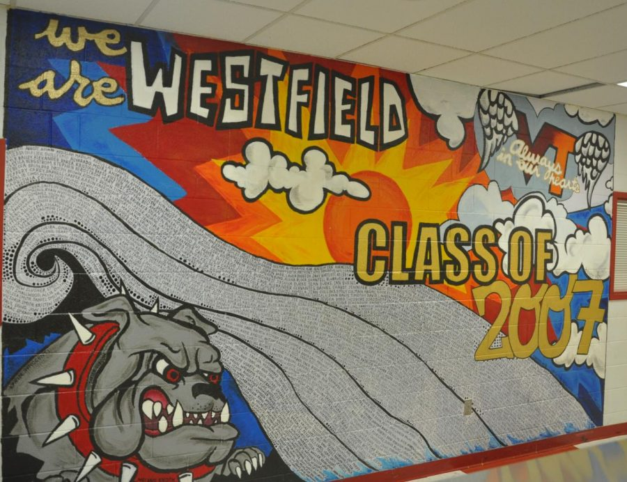 The Class of 2007s mural, displayed facing A Locker Bay.