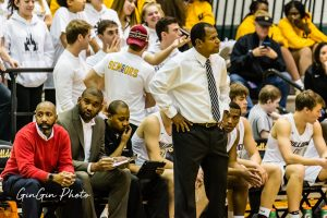Ewell coaching during the 2019-2020 season against South Lakes.