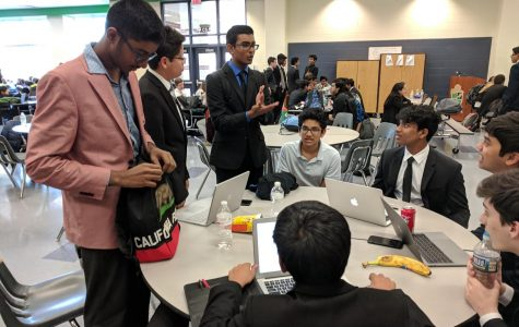 Westfield Debate Club students at a tournament in Woodgrove High School, in 2018.