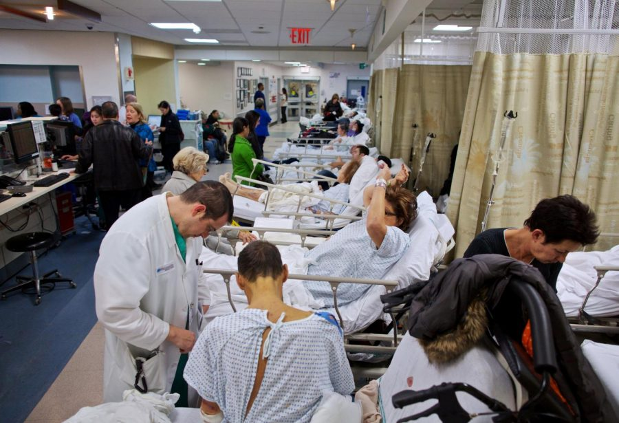 This overcrowded hospital in Ontario, Canada shows what American health care facilities could resemble if the United States were to implement an universal healthcare plan.