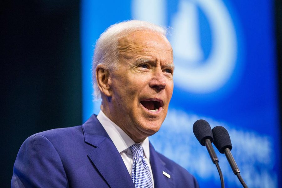 Here, Biden exemplifies the calm and collected side of himself in a speech. Never diving in anger or inaction, he is our number one choice for president.