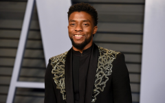 Chadwick Boseman at the Vanity Fair Oscars Party.