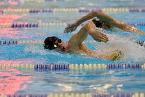 William Beamon, 12, swimming.