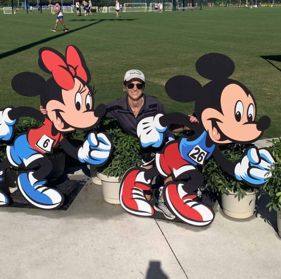 Coach Deegan at Disney with the team.