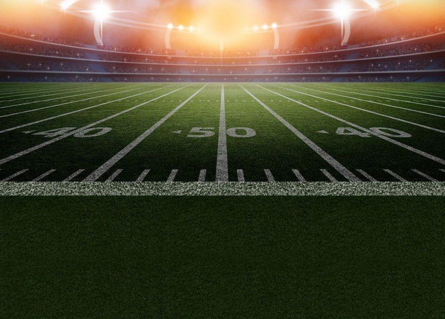 A football field.